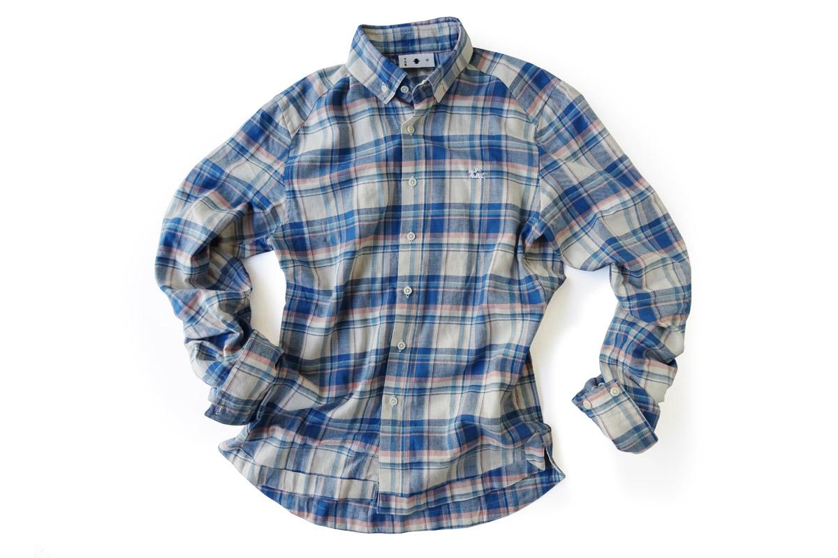 ≪義志≫陣羽織シャツ型第18 「天竺格子」
