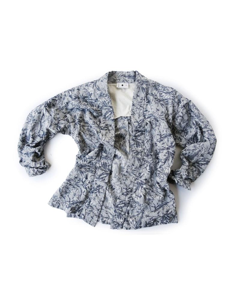 大和羽織型第4「椰子」 白に紺