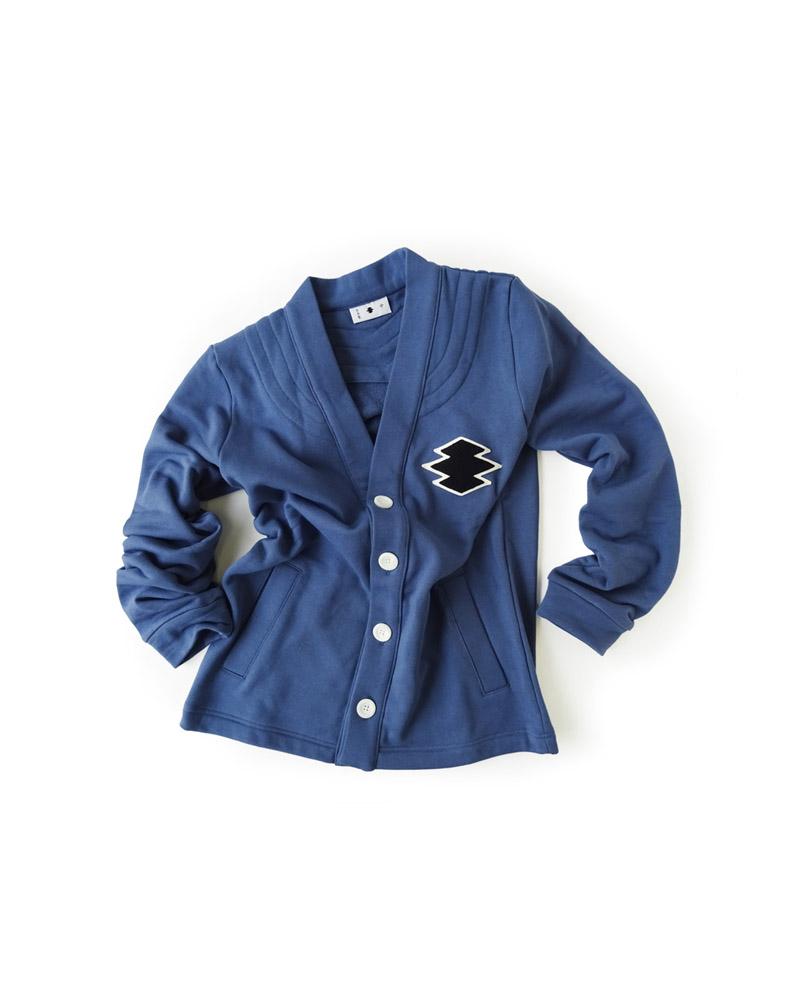 前開き羽織型第2「松皮菱」藍