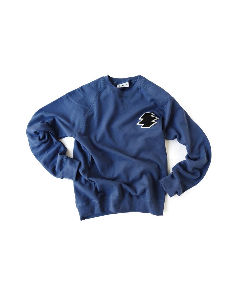 かぶり丸襟羽織「松皮菱」藍