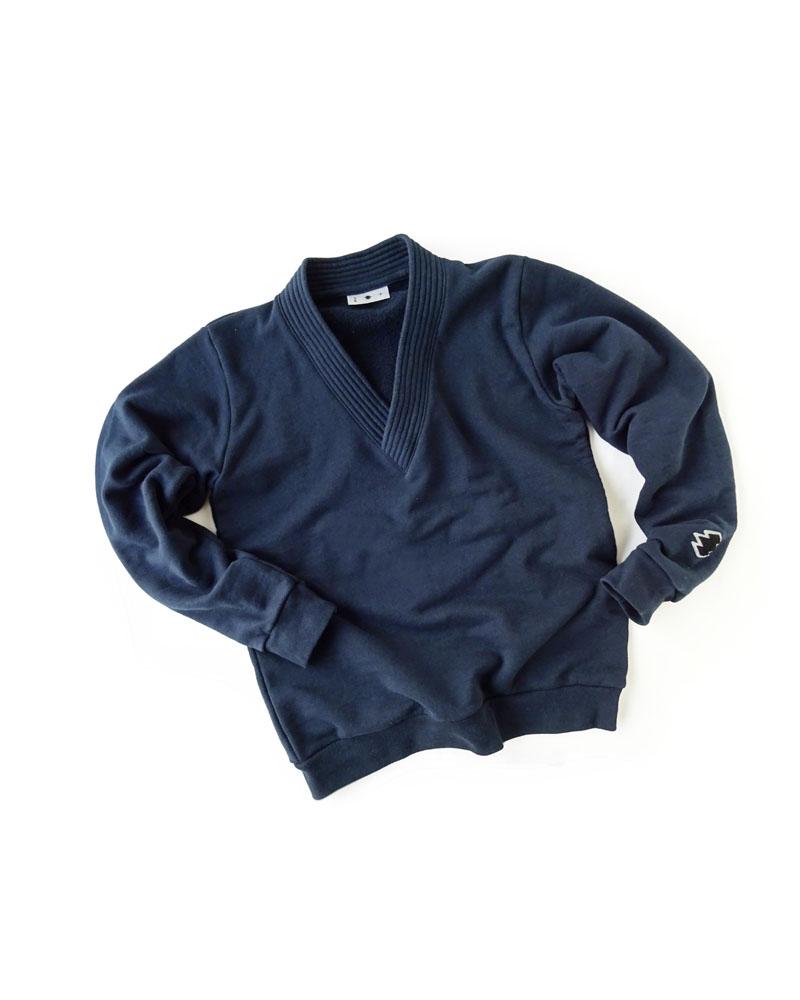 かぶり道着襟羽織 紺