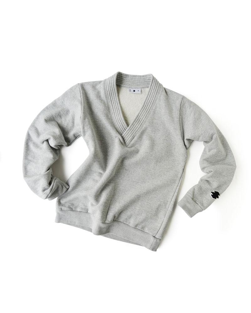 かぶり道着襟羽織 杢灰