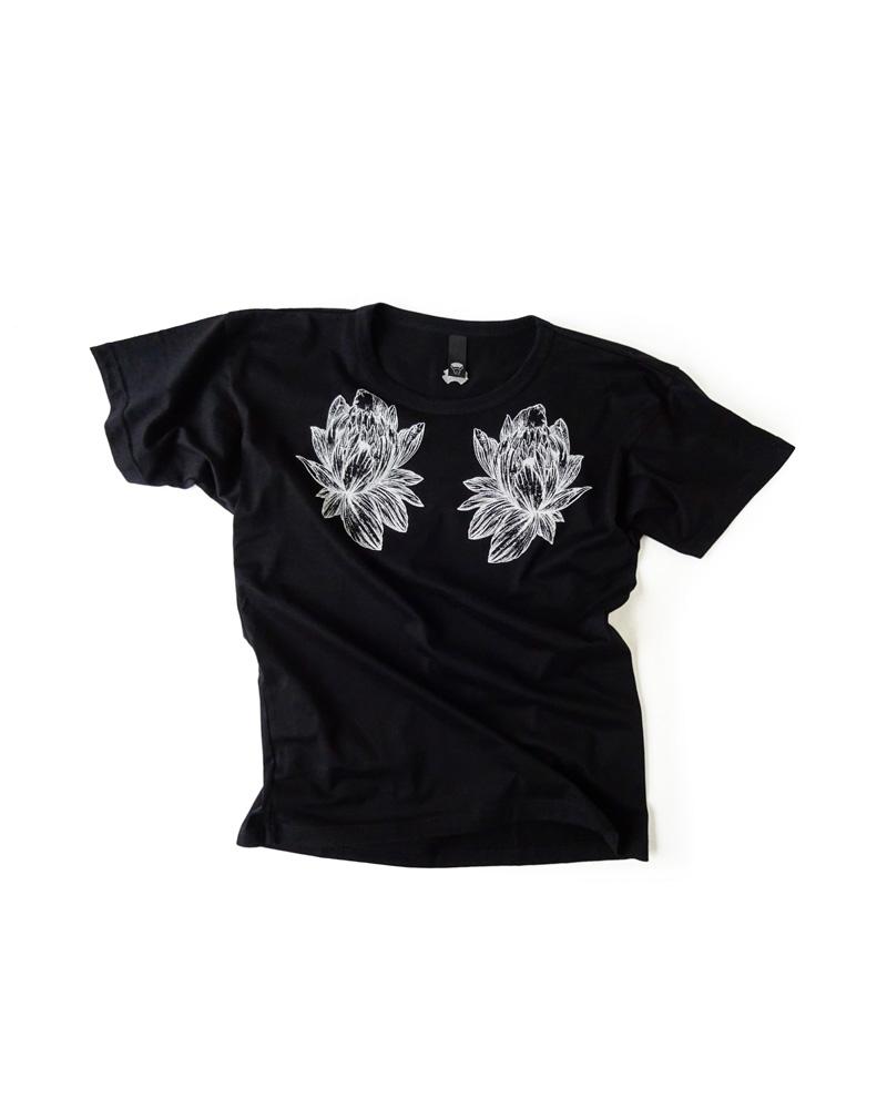 Tシャツ1号 華 黒